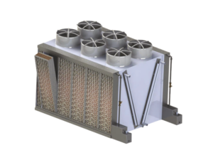 Adiabatic cooling system for air-condensed water chillers | Fisair