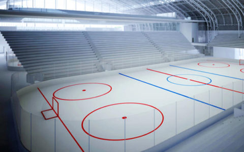 Covered ice rinks