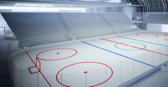 Ice rinks dehumidification
