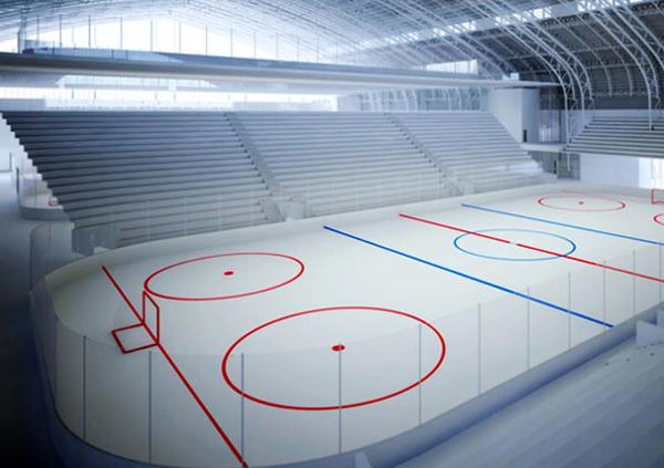 Ice rinks dehumidification