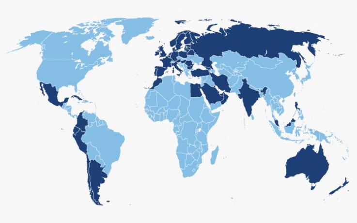 World Map   Fisair