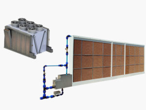 Cellular panel evaporative coolers | Fisair's Photos adiabatic cooling system