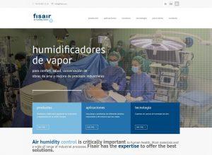 Imagen de la nueva web de Fisair | Fisair