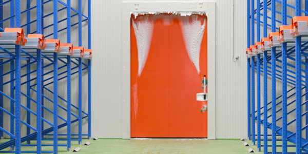 hielo-puerta